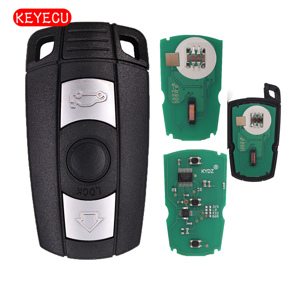 Keyecu Smart Remote Key 3 Button 315MHz/433MHz/315LP/868MHz PCF7953 for BMW CAS3 3+ 1 3 5 7 Series X5 X6 Z4 new updating smart key for benz 3 button 433mhz 315mhz easy to create a new key for mecerdes good quality