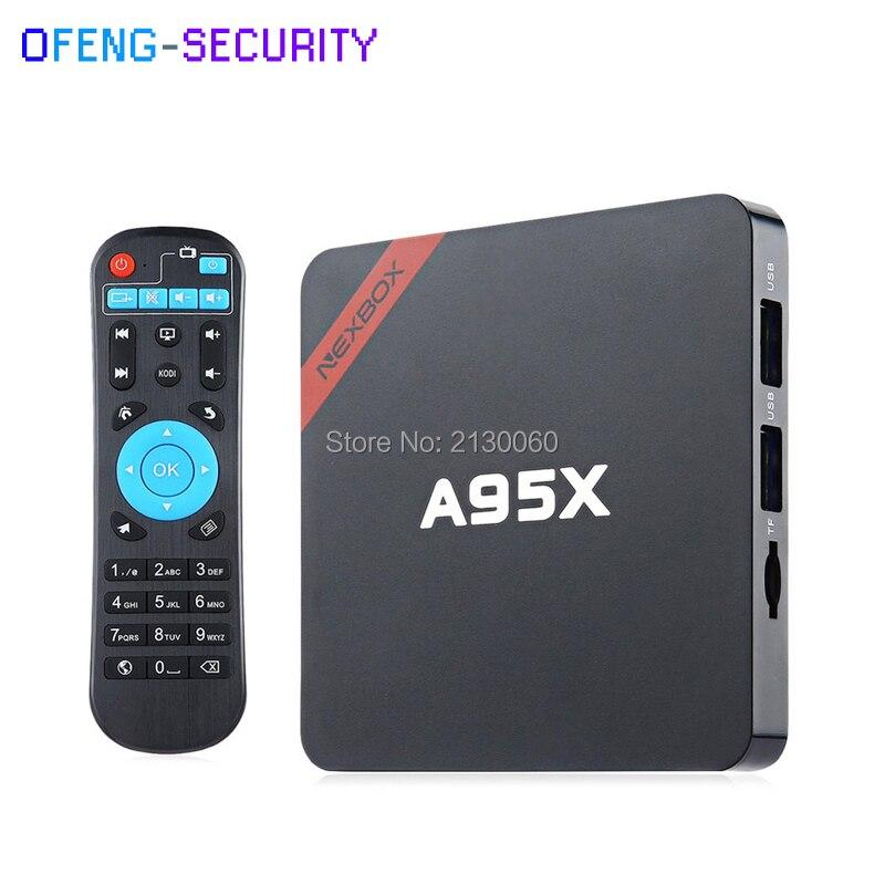 NEXBOX A95X R1 Smart Android 6.0 TV Box Rockchip 32bit Top Box WiFi 4K Media Player alfawise a95x r1 tv box