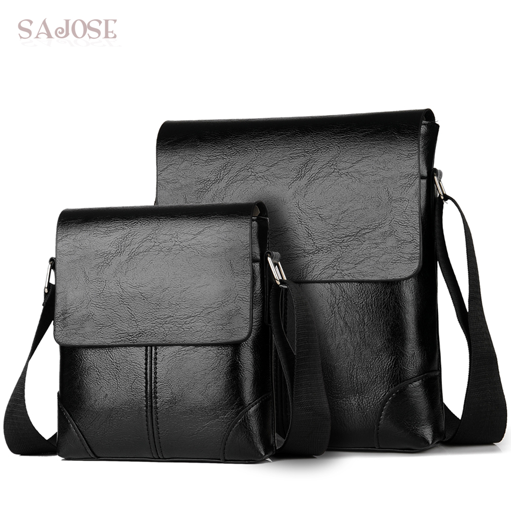 Crossbody Bags For Men's PU Leather Shoulder Bag Casual Vintage 2 Sets Fashion Business High Quality Men Messenger Bags Hand Bag casual shoulder crossbody bags for women 2018 pu leather shoulder bag black gray red fashion simple womens bag high quality