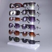 Livraison gratuite 12 grille bois lunettes stand titulaire organisateur