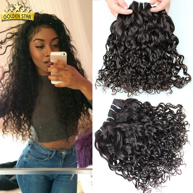 Fashion Italian Curly Human Hair Weave 3pcslot Peruvian Virgin Hair