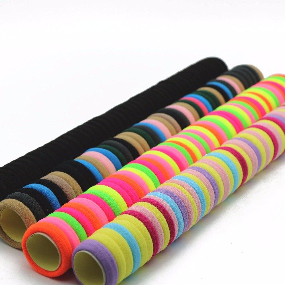 #AD0043 24pcs/lot 3cm Hair Elastic Ties Gum Black/Candy Color Rubber Bands Rezinochki Women/Children Hair Accessories Scrunchy