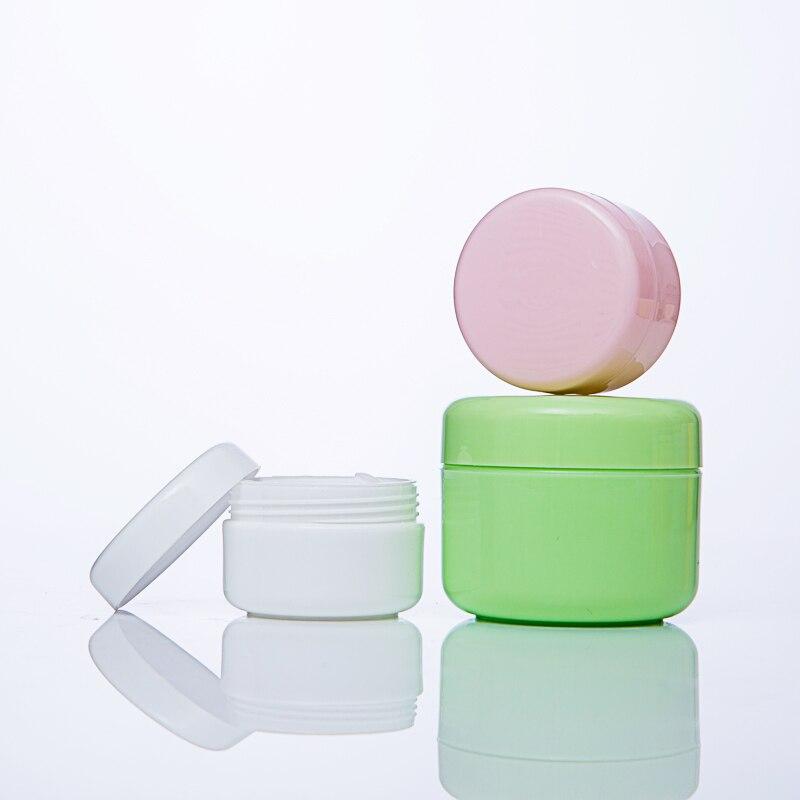 5Pcs 10g/20g/50/100g Refillable Bottles Plastic Empty Makeup Jar Pot Travel Face Cream/Lotion/Cosmetic Container 5 Colors