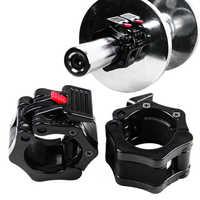 1 par de ganchos giratorios de 25mm y 30mm para Collar y mancuernas, abrazadera para barra de levantamiento de pesas, mancuernas de gimnasio, Fitness, culturismo