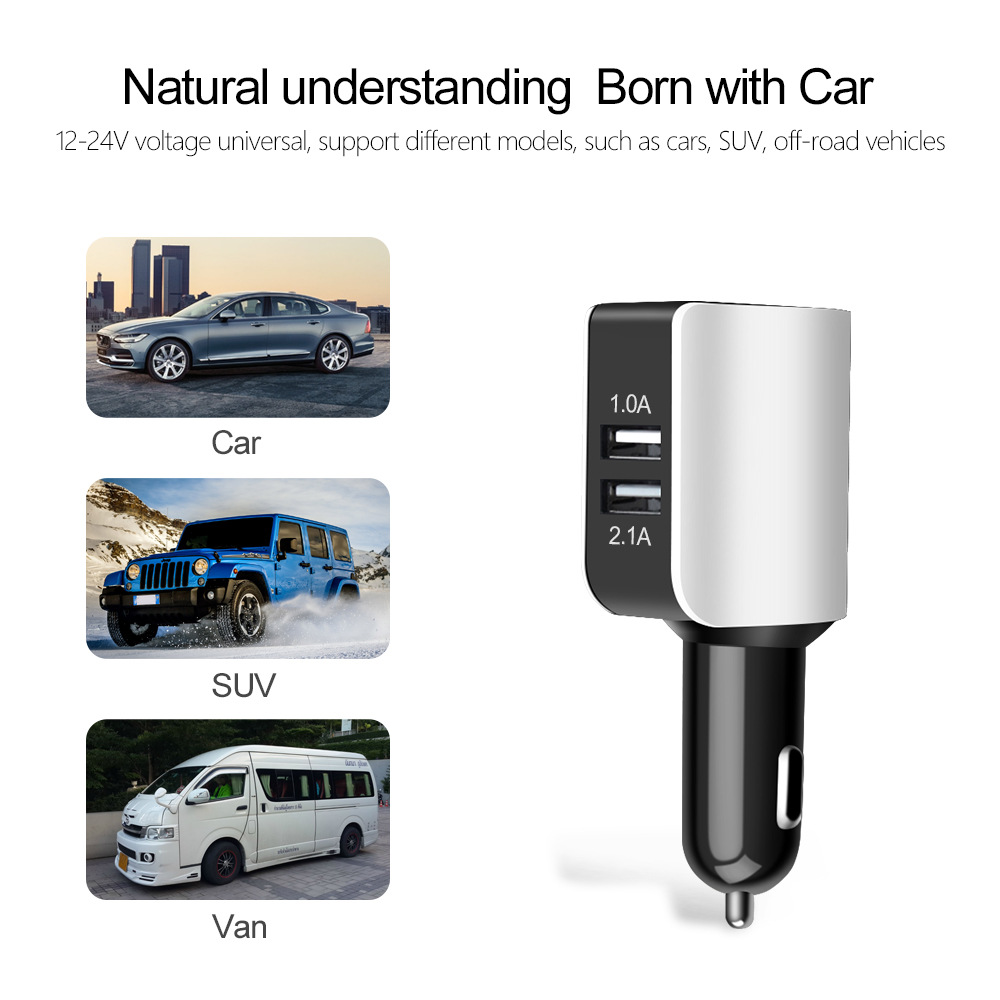 Image 5 - Universal Car Charger Double USB Quick Charger 3.0 5 Volt 2.1A for Iphone 7 8 Cell Phone Fast Charger for Samsung s8 s9 Huawei-in Camera Charger from Consumer Electronics