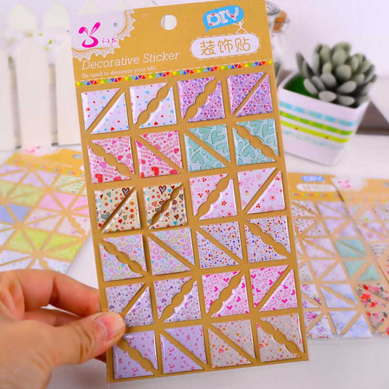 48pcs/sheet Floral Pattern Corners for Photo PVC Paper Photo Album Stickers 3D Scrapbooking Wedding Photo Album Photo Holder