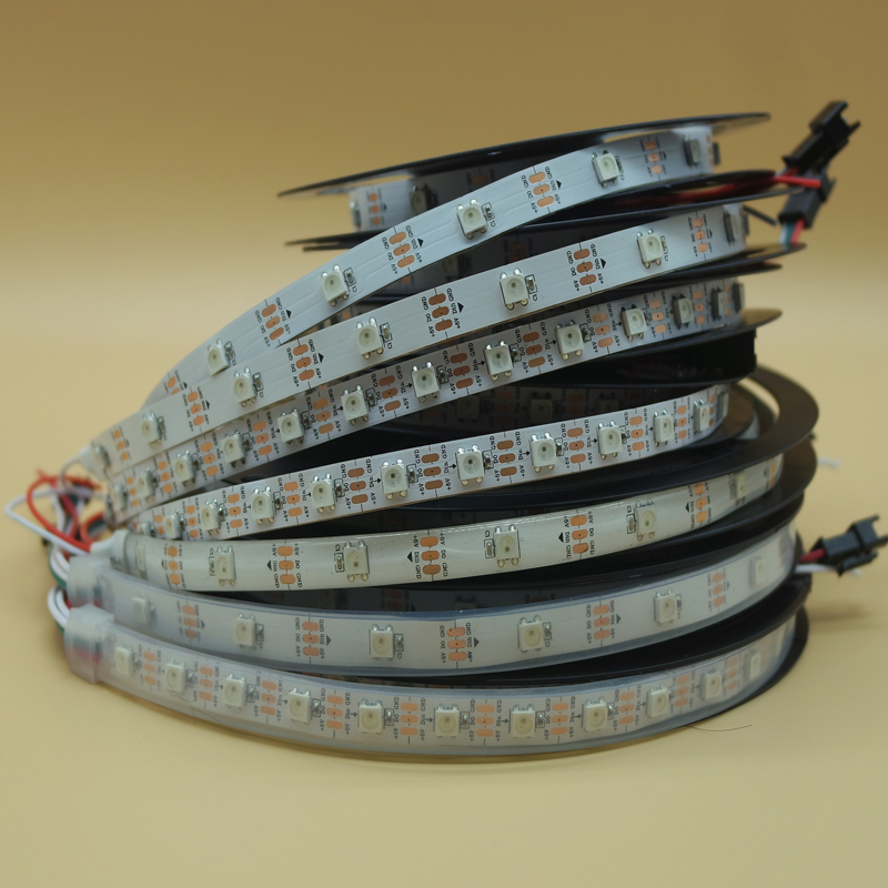 LED Strips WS2812B Ws2812 IC RGB Individually Addressable 5050 Leds Strip Light Waterproof Diode Flexible Neon Led Tape Lamp 5V