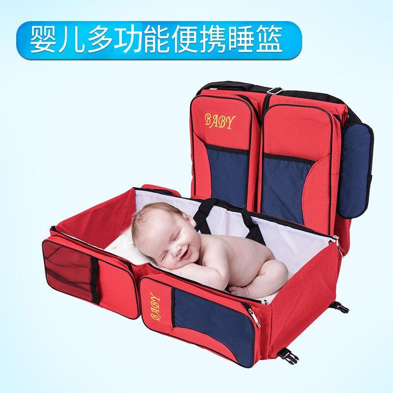 Multi-fonction portable pliable voyage couches changeantes exquis momie pack une variété de couleur nouveau-né bébé lit de berceau