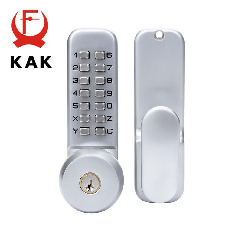 KAK Zinc Alloy Combination Mechanical Digital Door Lock No Power Push Button Code Locks For Home