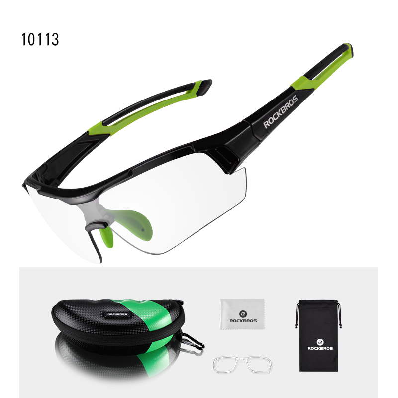 ROCKBROS Photochromic Cycling Glasses Outdoor Sports MTB Bicyclel Sunglasses