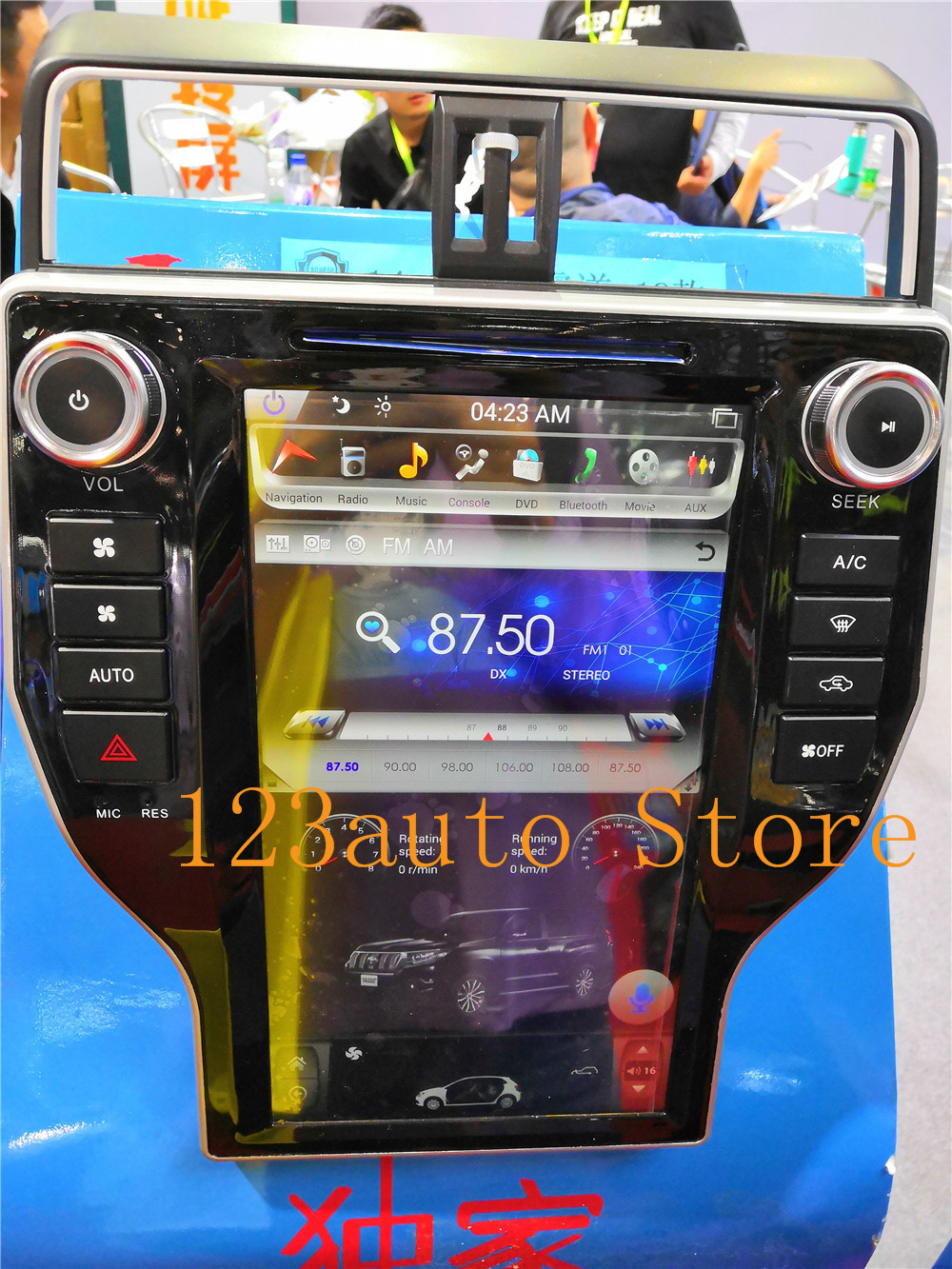 Autocardvdgps us $527.2 20% off|14 inch vertical tesla style android 7.1 auto car dvd gps  navigation for toyota land cruiser prado 150 2018 dvd player radio-in