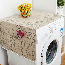 30*90 см Геометрическая ткань для холодильника, одна дверь, пылезащитный чехол для холодильника, пасторальное двойное открытое полотенце, сти...