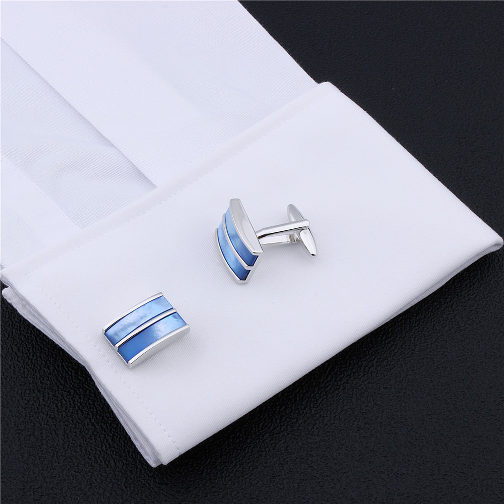 Fashion Accessories Men Cufflinks Lawyer Jewelry with Mother Pearl Cuff Links For Men Dress Shirt