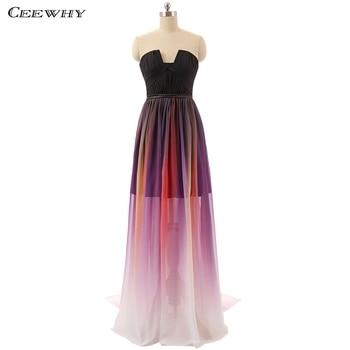 CEEWHY Off Shoulder Chiffon Wedding Party Dress Elegant Prom Dresses Crystal Evening Dress Beaded Evening Gown Lange Jurken