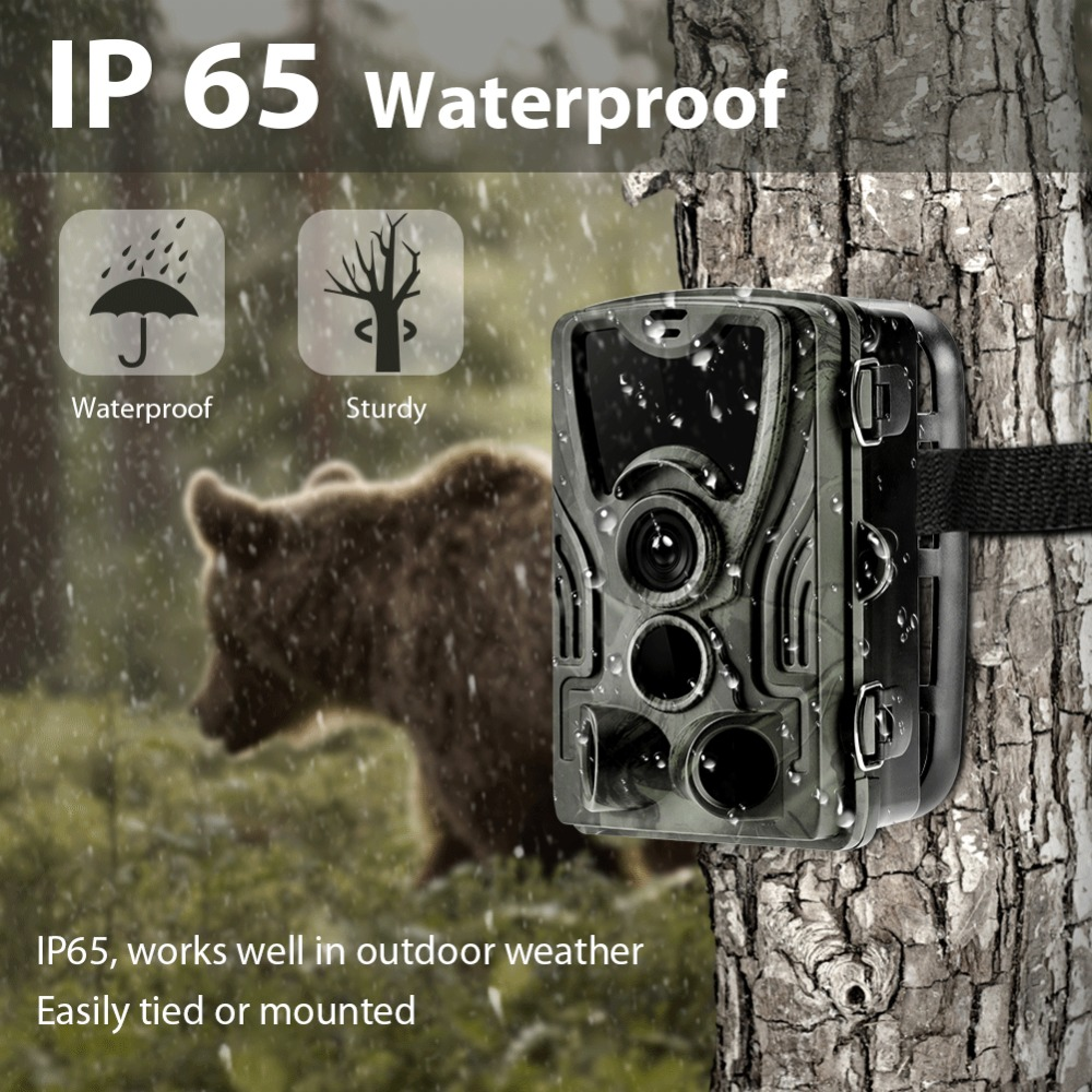 Hunting Camera Wild Trail Cameras HC-801A 16MP 1080P  IP65 Photo Trap  Wildlife Surveillance Cams Scout TrackingHunting Camera Wild Trail Cameras HC-801A 16MP 1080P  IP65 Photo Trap  Wildlife Surveillance Cams Scout Tracking
