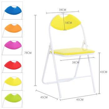 6pcs/lot Portable Foldable Folding Chair Hand-held  1
