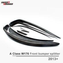 Mercedes W176 Передний Бампер Сплиттер Для Губ Из Углеродного Волокна Спойлер Для Benz A Class W176 A220 A160 A180 A200 С Пакетом AMG