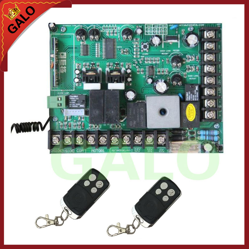 motherboard PCB motor controller circuit board card for swing gate opener motor 12V /24V DC input power(remote control optional)