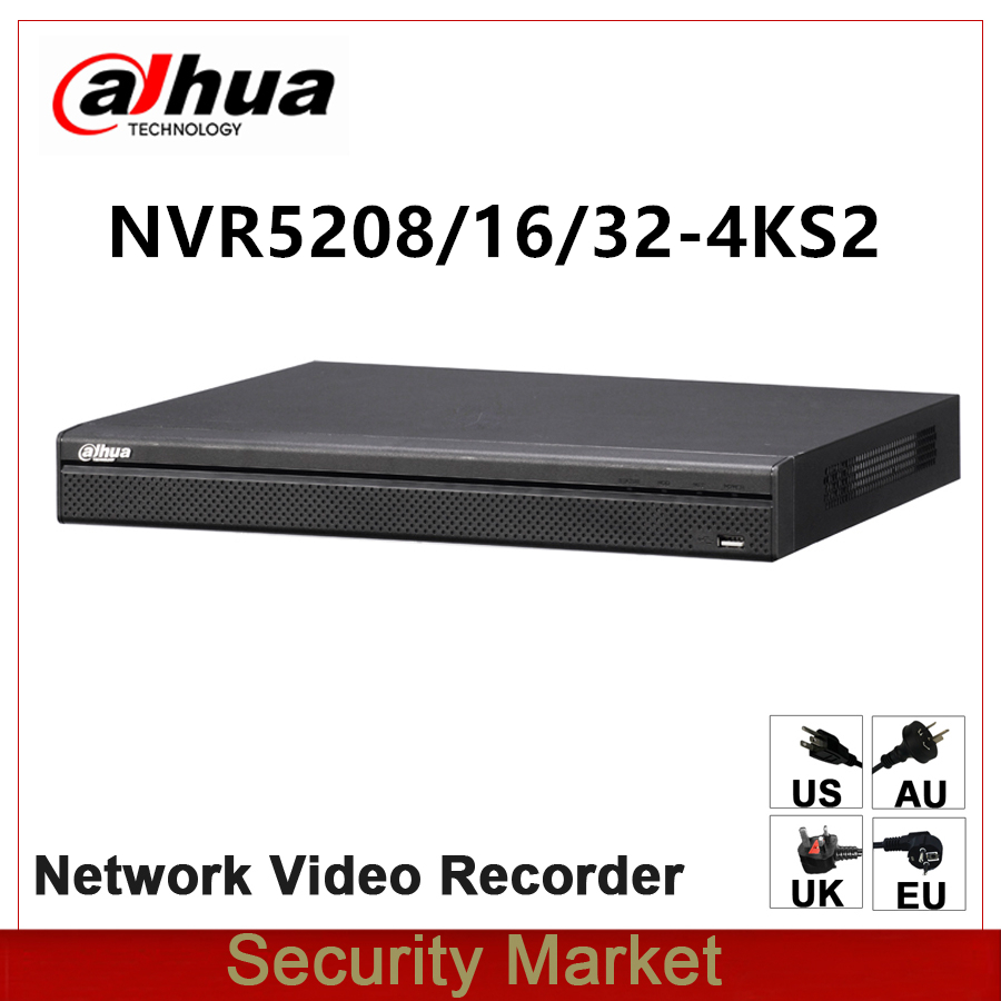 Original dahua English Version NVR5208 4KS2 NVR5216 4KS2 NVR5232 4KS2 8 16 32 Channel 1U 4K