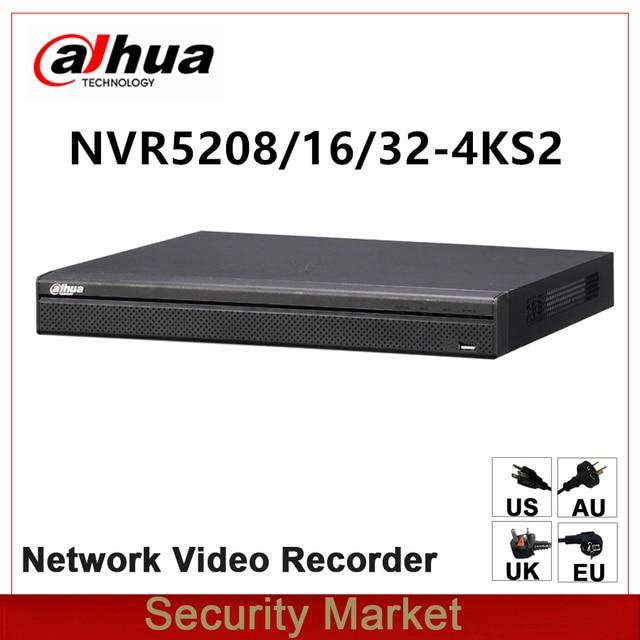 Original dahua English Version NVR5208 4KS2 NVR5216 4KS2 NVR5232 4KS2 8/16/32 Channel 1U 4K&H.265 Pro Network Video Recorder