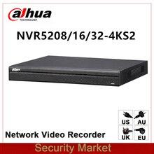 מקורי dahua אנגלית גרסה NVR5208 4KS2 NVR5216 4KS2 NVR5232 4KS2 8/16/32 ערוץ 1U 4 k & H.265 פרו רשת וידאו מקליט
