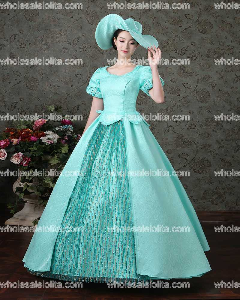 New Arrival Blue Rococo Baroque Marie Antoinette Ball Gown Dresses ...