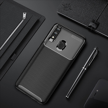 For Huawei P Smart 2019 Case Silicone Shell Carbon Fiber TPU High Quality Diamond Grid Design