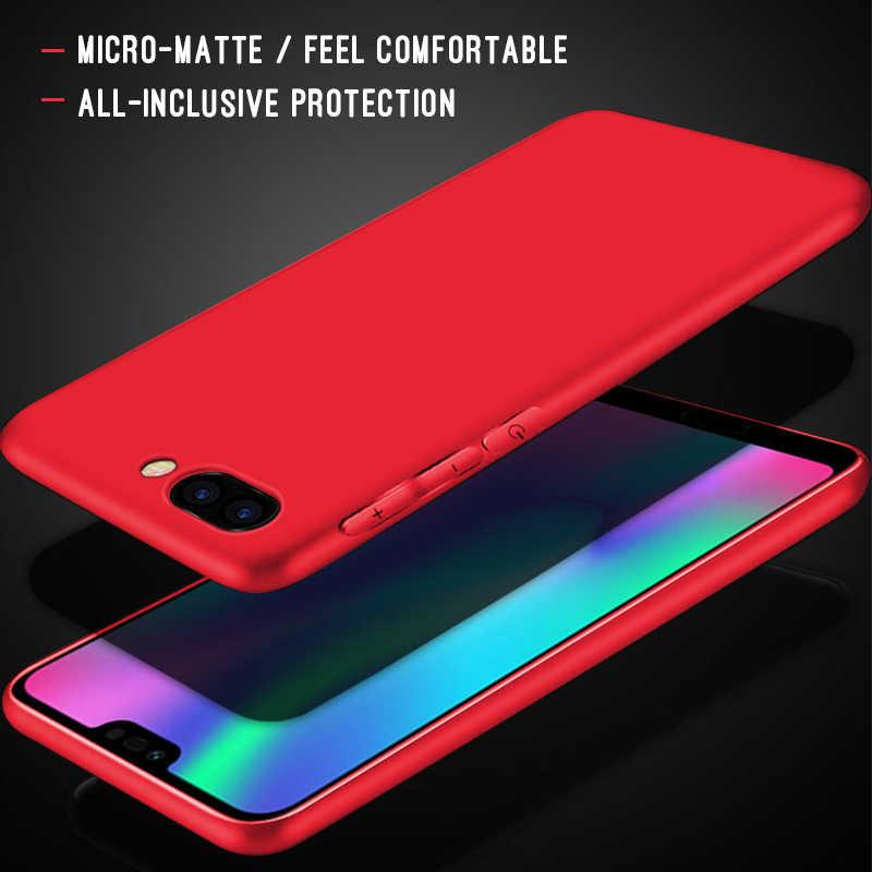 Милый карамельный цвет ультра тонкий матовый чехол для телефона huawei Honor 8X Max 10 9 8 Lite 8C Note 10 V9 Play 6C Pro Play 9i Capa