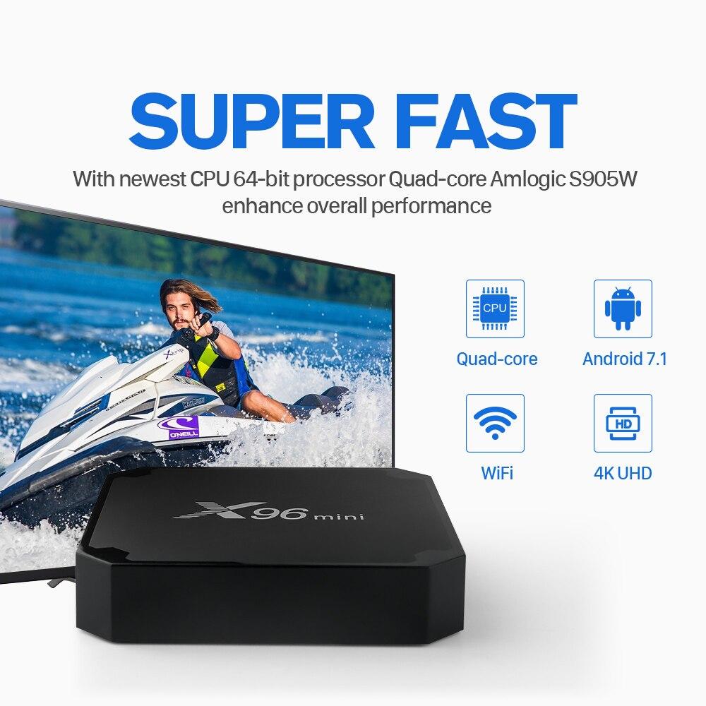 X96 Mini Europe IPTV Box Android 7.1 IPTV Box Amlogic S905W Quad Core Support 4K X96Mini Germany Spain Italy Greek Uk IP TV