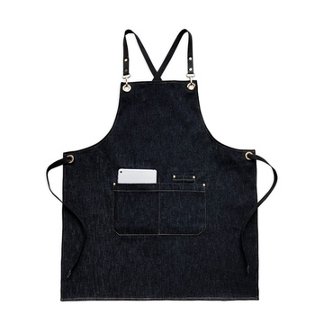 2019 Fashion Denim Apron Coffee Shop And Hairdresser Chef Protection Suit Bib Cooking Kitchen Aprons For Woman Man Apron Overall