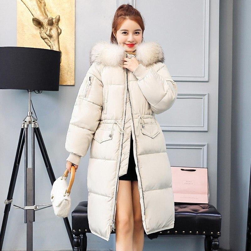 962b6554641e Veste Long Coton Manteau Femme Beige Chaud Parka Mince D hiver gris Vestes  Nouveauté Manteaux Rembourré 2019 De Mode Longue noir Pour Épaissir Femmes  YZ6nc