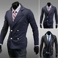 Ropa hombre 2013 otoño y el invierno cruzado de lana delgado moda delgada prendas de vestir exteriores