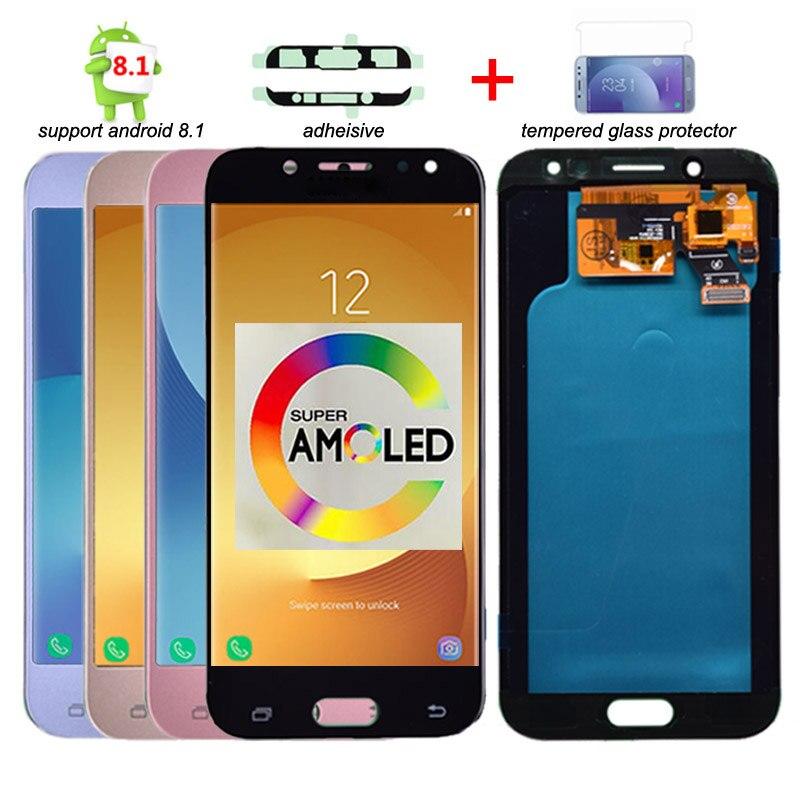 Super Amoled LCD pour Samsung Galaxy J5 2017 J530 J530F LCD écran tactile numériseur assemblée lcd pour J5 Pro 2017 J5 Duos