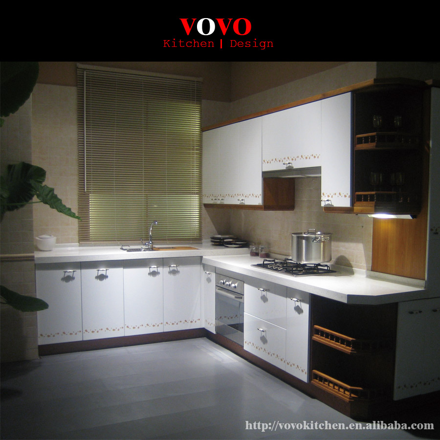 White Lacquered Kitchen Cabinetry: U Shape White Lacquer Kitchen Cabinet-in Kitchen Cabinets