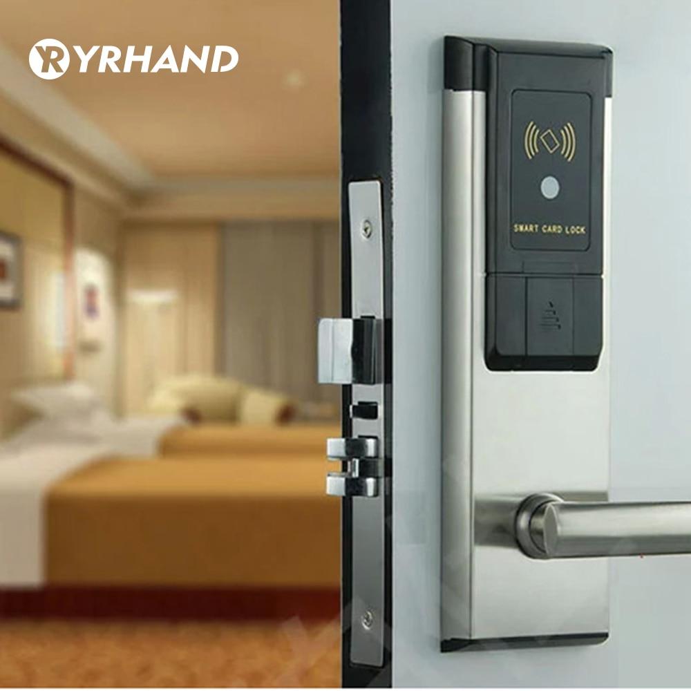 Electronic RFID Hotel Door Lock System Swipe Card Smart Door Lock