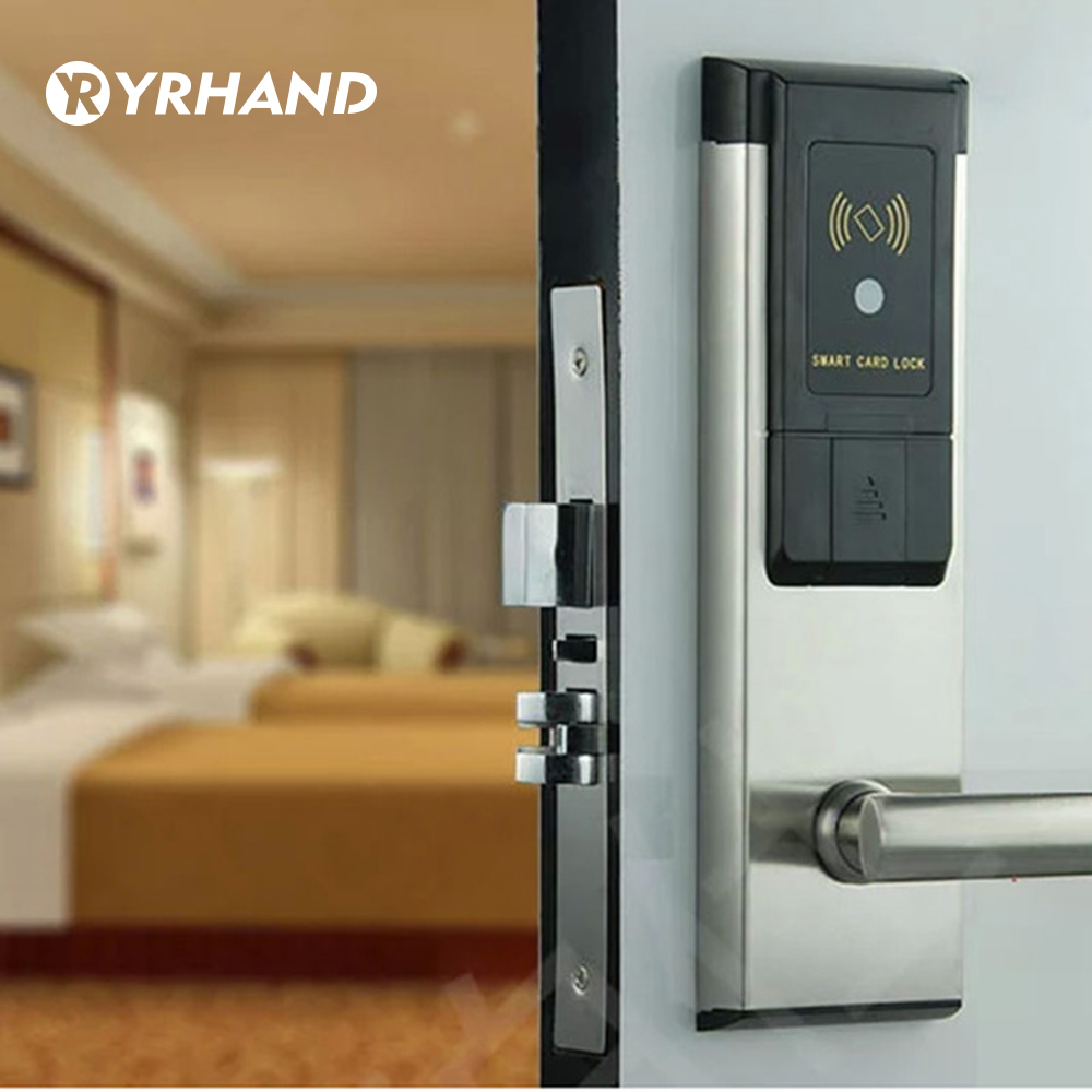 Electronic RFID Hotel Door Lock System Swipe Card Smart Door Lock