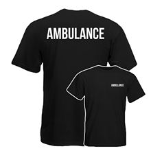 2019 Funny Ambulance T-Shirt, Medical Health Care Work Wear Tee Top Double Side Unisex