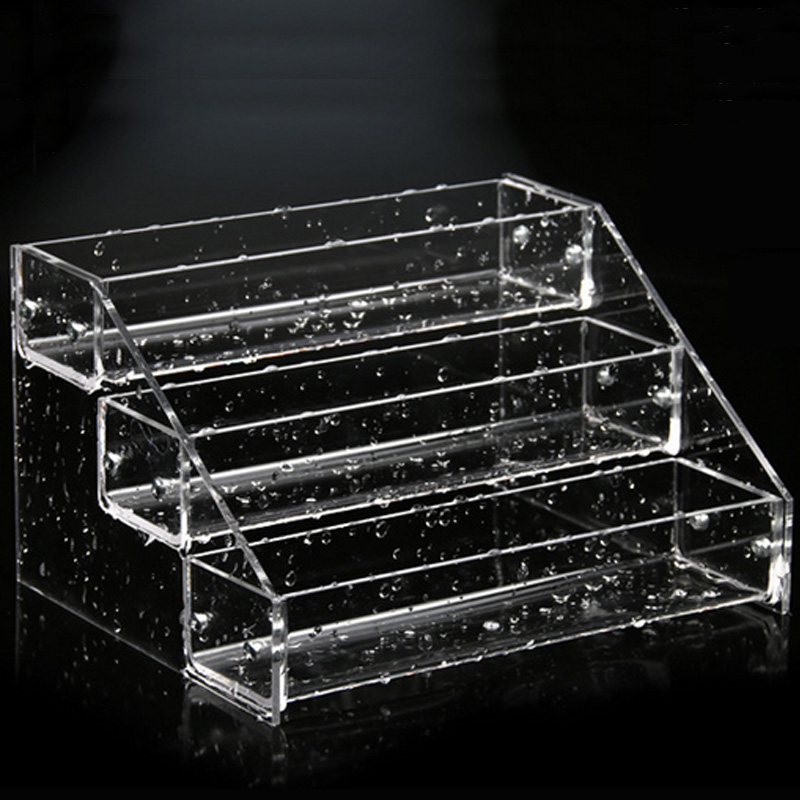 new clear acrylic plastic nail polish rack 3 tiers layers lipstick organizer storage display shelf nail