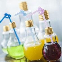 New Summer Bulb Water Bottle Cute Brief Fashion Milk Juice Light Bulbs Cup Leak-proof