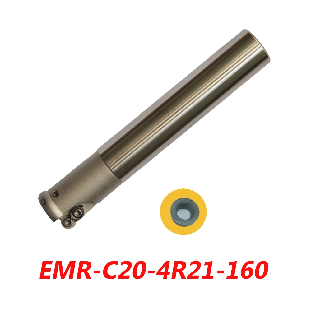 цены  Free Shipping EMR-C20-4R21-160 Indexable Face Milling Cutter Tools For RPMT0802MOE Carbide Inserts Suitable For NC/CNC Machine