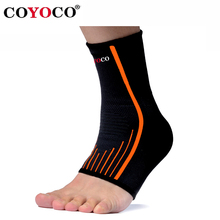 1 Pair Ankle Brace Support Protect COYOCO Brand Sport Outdoor Bicycle Gym Anti Sprained Ankles Warm Nursing Care Black Orange