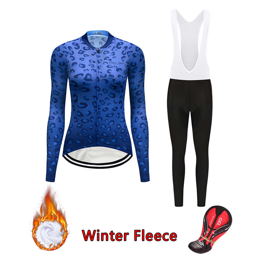 0b8f86452 2018 cycling jersey set female winter thermal fleece bicycle clothing pro  racing road bike clothes kit