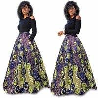 伝統アフリカ服女性半袖レッドローズプリントツーピースセットセクシーなロングアフリカのドレスプラスサイズのマキシドレス