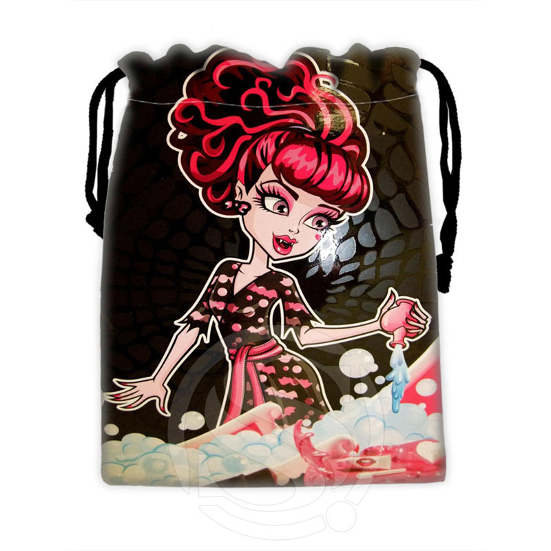 H-P768 Custom Monster High#12 Drawstring Bags For Mobile Phone Tablet PC Packaging Gift Bags18X22cm SQ00806#H0768