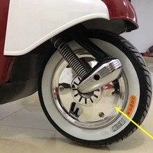 Аксессуары для мотоциклов для Honda Yamaha Сузуки Мотоцикл скутер колесо хрома 10-дюймовый Барабанный тормоз колеса установка