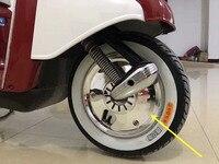 Motorcycle Accessories For Honda Yamaha Suzuki motorcycle scooter chrome wheel cover 10 inch drum brake wheel installation