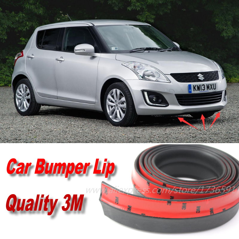 Car Bumper Lips For Suzuki Swift / Swift+ Front Lip Deflector Lips Skirt / Body Kit Strip Body Chassis Side Protection