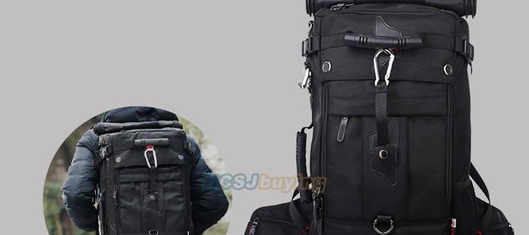 KAKA Men Backpack Travel Bag Large Capacity Versatile Utility Mountaineering Multifunctional Waterproof Backpack Luggage Bag 10