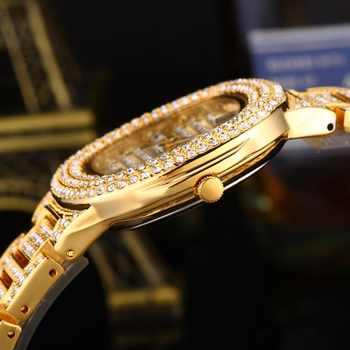 MISSFOX Bussiness Quartz Watch Famous Brand Bu Diamond Watch Stainless Steel Timepiece Women Golden Clock Ladies Designer Watch