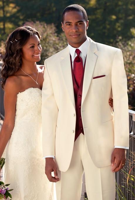 Custom Made Groom Tuxedo Pengiring Pria Gading Pernikahan / Makan - Pakaian Pria